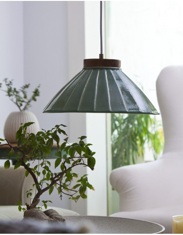 Nuki (LED) Hanging Lamp Bluish Green