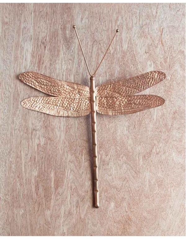 Dragonfly Wall Décor Copper